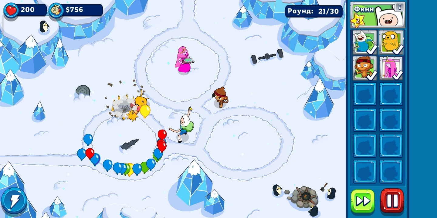 Игра Bloons Adventure Time TD (Блунс Адвентуре Тайм ТД) на Андроид скриншот 3