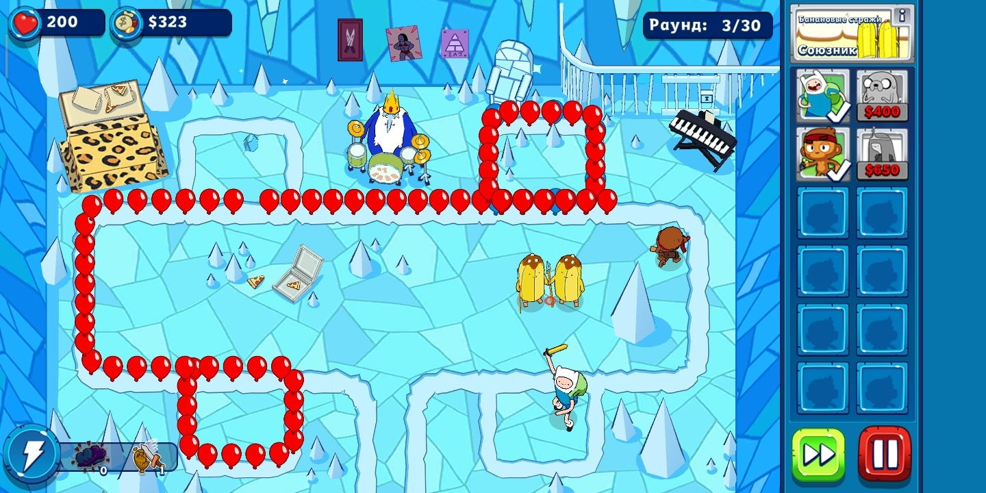 Игра Bloons Adventure Time TD (Блунс Адвентуре Тайм ТД) на Андроид скриншот 4